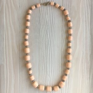 Pink Beaded Necklace by J.Crew